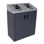 Summit Gray 2-Stream Front Access Bin w/Sloped Lid