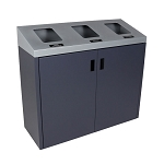 Summit Gray 3-Stream Front Access Bin w/Sloped Lid