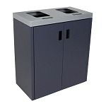 Summit Gray 2-Stream Front Access Bin w/Flat Lid