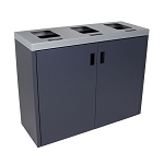 Summit Gray 3-Stream Front Access Bin w/Flat Lid