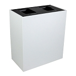 Summit White 2-Stream Top-Access Bin w/Hinged Lid