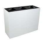 Summit White 3-Stream Top-Access Bin w/Hinged Lid