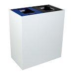 Summit White 2-Stream Top-Access Bin w/Multi-Hinged Lid