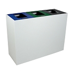 Summit White 3-Stream Top-Access Bin w/Multi-Hinged Lid