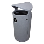 The Euro 36 Gallon Waste Container w/Canopy