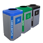 The Octo Indoor 3-Stream Recycling Station