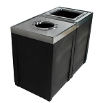 Evolve Two-Stream Double Cube Recycling and Waste Station