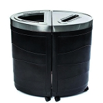 Evolve Two-Stream Double Ellipse Recycling and Waste Station
