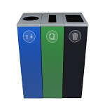 Spectrum Three-Stream Slim Cube Recycling Station