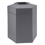 Hex 45 Gallon Trash Container