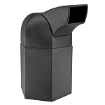 Hex 45 Gallon Trash Container w/ Drive-Thru Lid