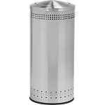 Imprinted 360 Swivel Lid Waste Receptacle in Stainless Steel - 25 Gallon