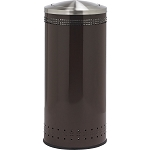 Imprinted 360 with Swivel Lid Waste Receptacle in Brown - 25 Gallon