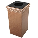 30-Gallon Square StoneTec Waste Container