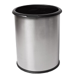 InnRoom Classic Smooth Wastebasket with Black Liner