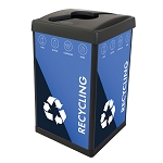 ErgoCan Square 45-Gallon Recycling Container