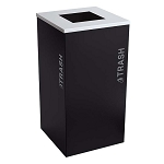 Black Tie Kaleidoscope Square Recycling Container