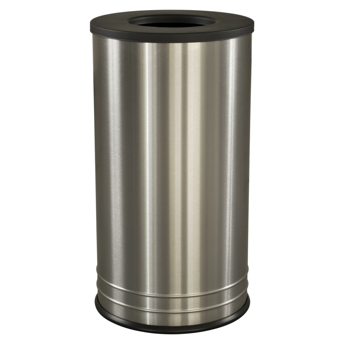 International series flat top trash receptacle stainless steel trash cans warehouse