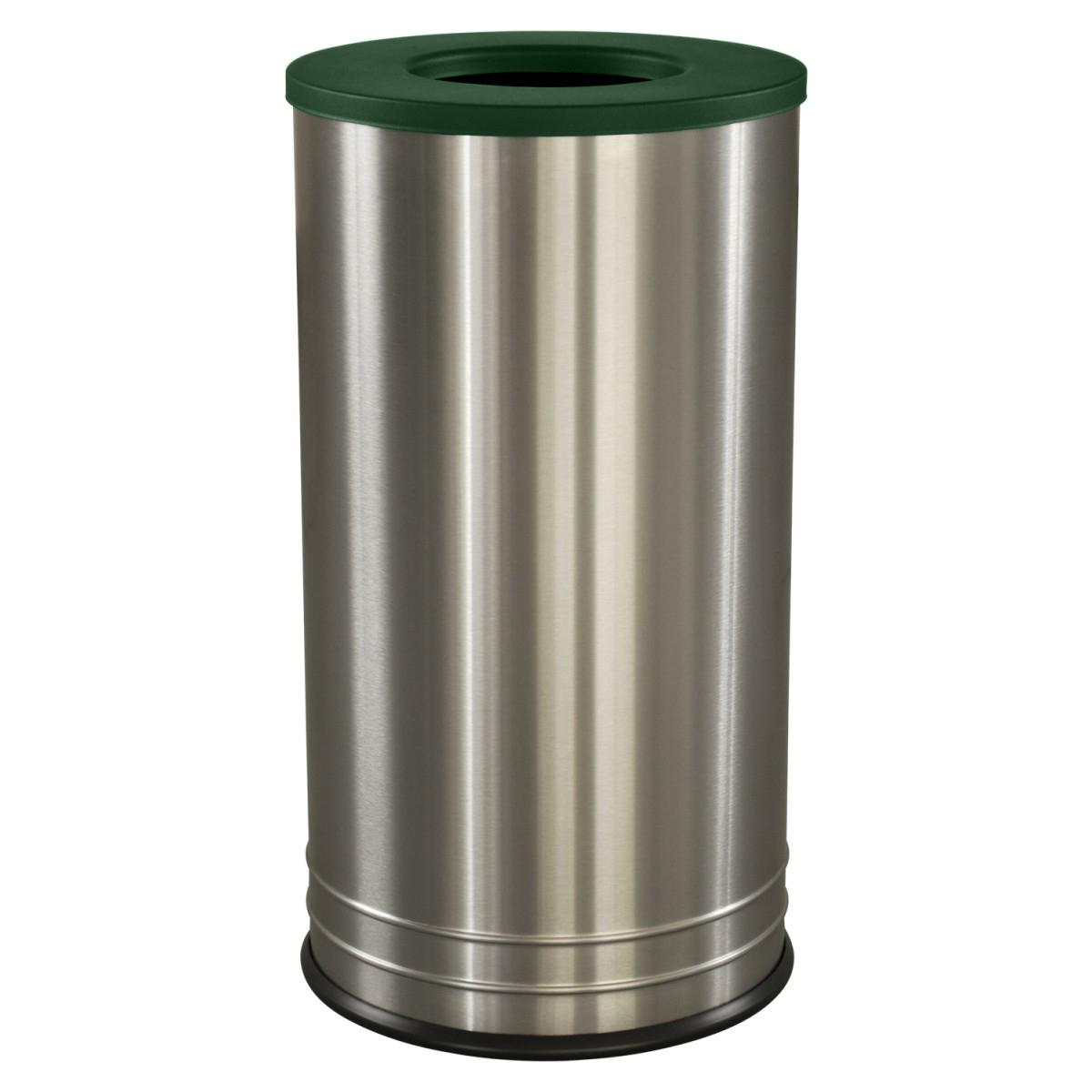 International Series Flat Top Trash Receptacle Stainless Steel ...