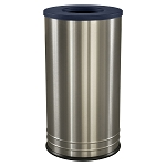 International Flat Top Trash Receptacle in Stainless Steel