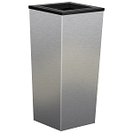 Metro Single-Stream Waste and Recycling Receptacle in Stainless Steel