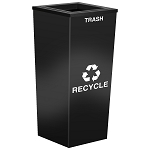 Metro Single-Stream Waste and Recycling Receptacle in Custom Colors
