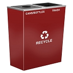 Metro Double-Stream Waste and Recycling Receptacle in Custom Colors