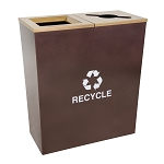 Metro Double-Stream Waste and Recycling Receptacle