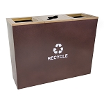 Metro Triple-Stream Waste and Recycling Receptacle