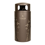 Nature Series 33 Gallon Trash Receptacle - Bamboo