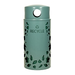 Nature Series 33 Gallon Recycling Receptacle - Leaves