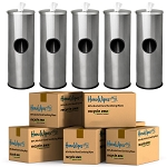 5 Stainless Steel Sanitizing Wipe Dispenser + 5-Case HanoWipes Bulk Bundle