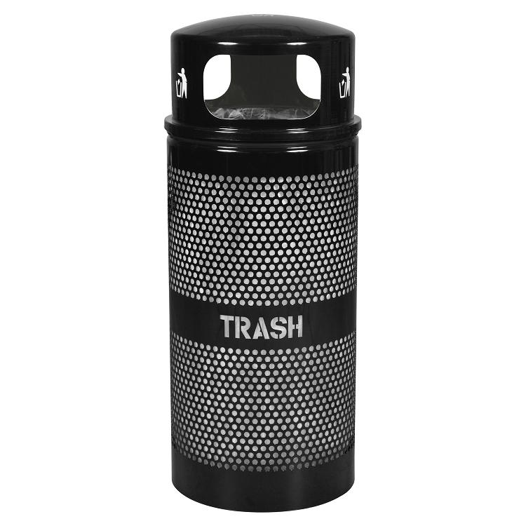 landscape 34 gallon dome trash can