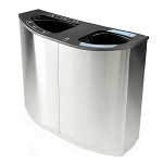 Wave Double Stream Waste & Recycling Container