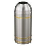Capri Waste Receptacle with Open Dome-Top