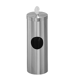 Disinfecting Wipe & Trash containers in Satin Aluminum