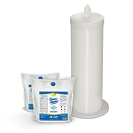 Wipe Dispenser in Designer White with 2-Rolls GermAway Antibacterial Wipes