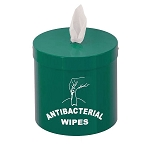 Wall Mounted Disinfecting Wipe Dispenser with Message in Designer Colors