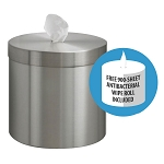 Wall Mounted Sanitizing Wipe Dispenser in Satin Aluminum w/Free Wipes Roll