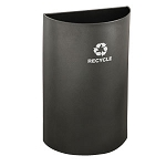 Glaro Open-Top Half Round Waste and Recycling Container 16 Gallon
