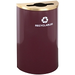 Glaro Half Round Waste and Recycling Container 14 Gallon