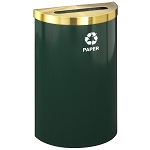 Glaro VALUE SERIES Half Round Waste and Recycling Container 16 Gallon