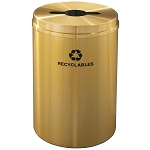 Glaro 33 Gallon Single Purpose Waste and Recycling Container in Satin Brass