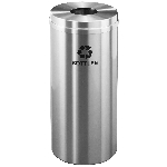 Glaro 12 Gallon Single Purpose Waste and Recycling Container in Satin Aluminum