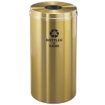 Glaro 16 Gallon Single Purpose Waste and Recycling Container in Satin Brass