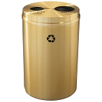 Glaro Dual Purpose Waste and Recycling Container in Satin Brass