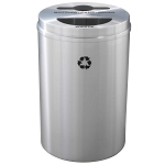 Glaro Dual Purpose Waste and Recycling Container in Satin Aluminum
