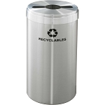 Glaro 15-Gallon VALUE SERIES Single-Purpose Recycling Container in Satin Aluminum