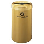 Glaro 23-Gallon VALUE SERIES Single-Purpose Recycling Container in Satin Brass