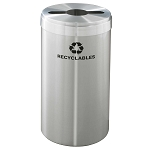 Glaro 23 Gallon VALUE SERIES Single Purpose Waste and Recycling Container in Satin Aluminum